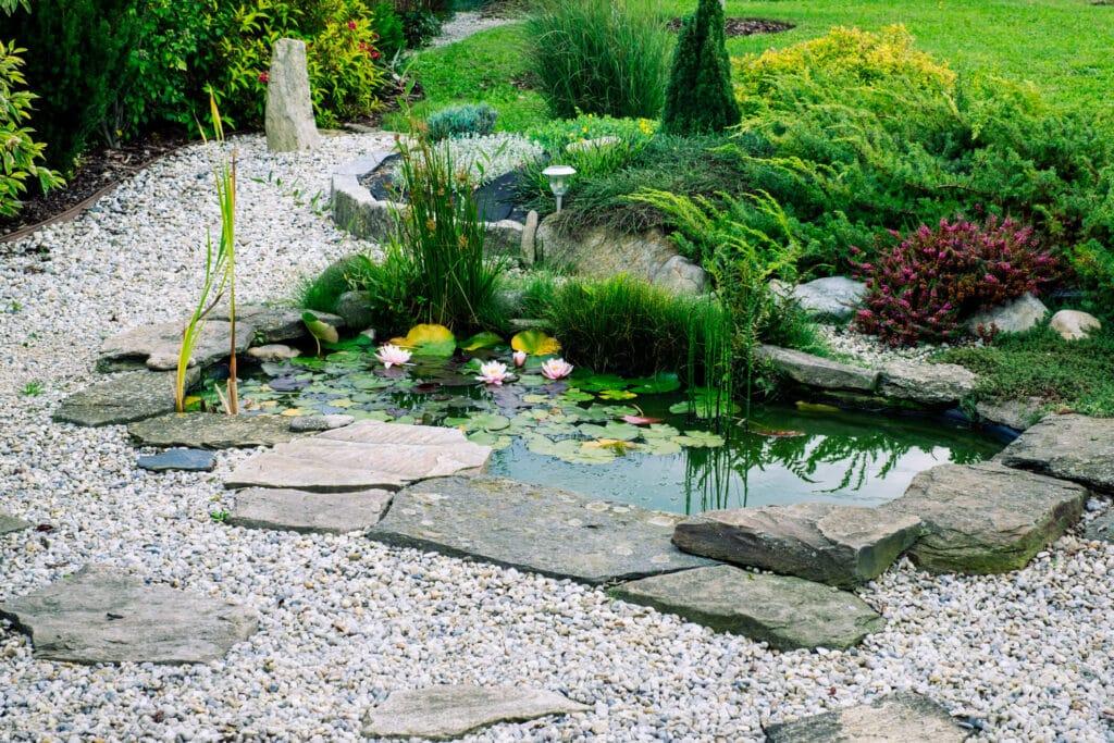 Steingarten Teich